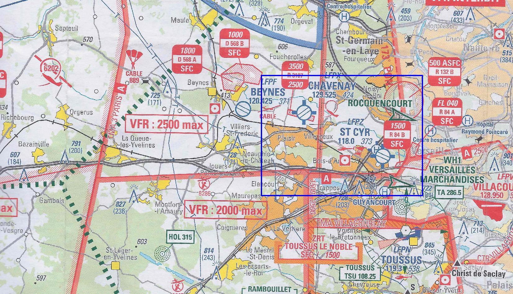 Carte Aeronautique Region Parisienne.Saint Cyr Dossier Environnement Version 1 0 Les Cartes